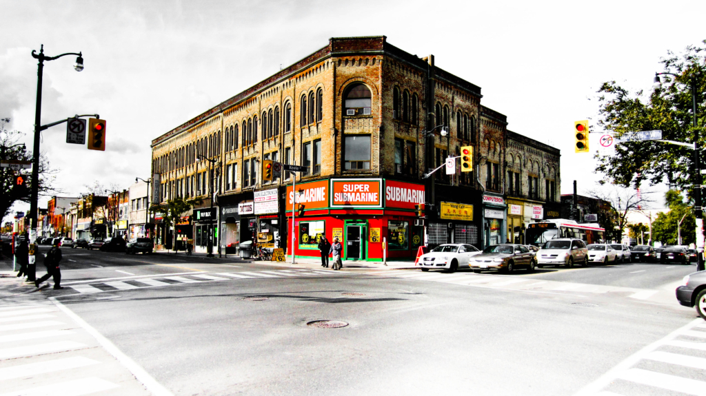 storefront at Keele and Dundas street in the junction