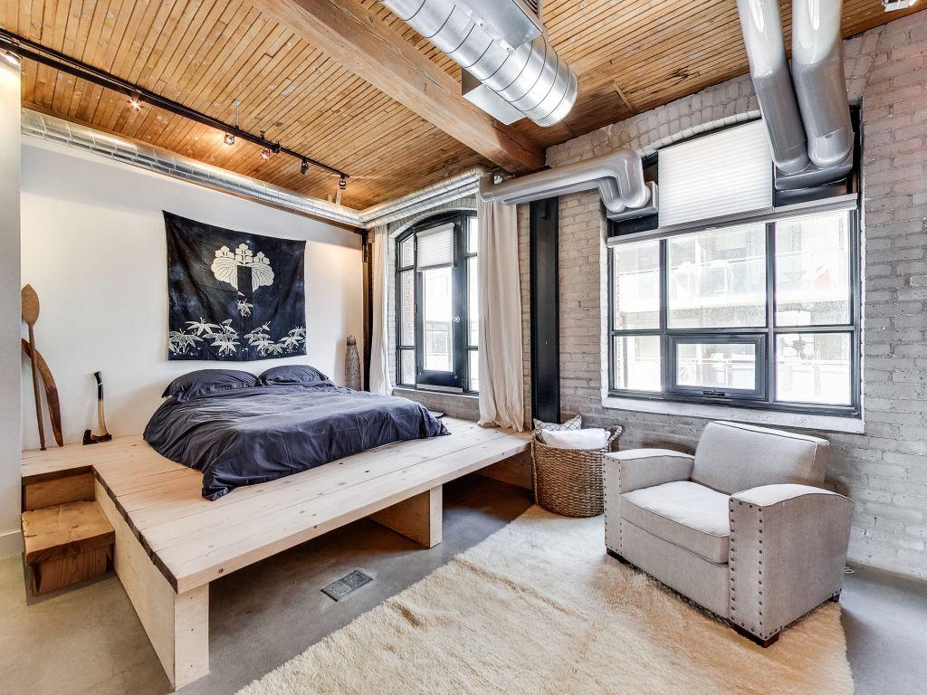 boho space in a toronto loft