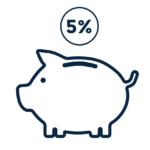 Deposit of 5% Graphic | Pierre Carapetian Group