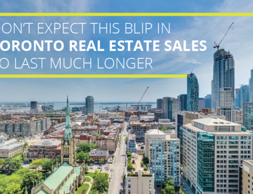 DON'T EXPECT THIS BLIP IN TORONTO REAL ESTATE SALES TO LAST MUCH LONGER