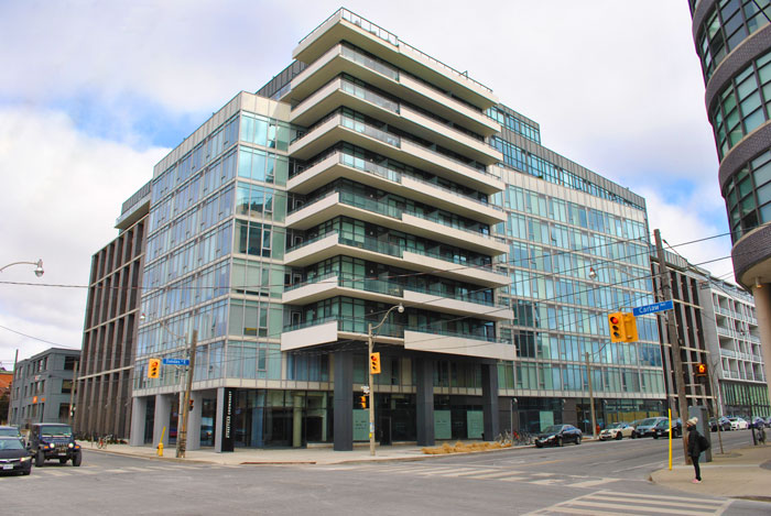 the carlaw condo, leslieville