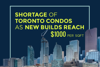 Shortage of Toronto Condos as New Builds Reach $1000sf
