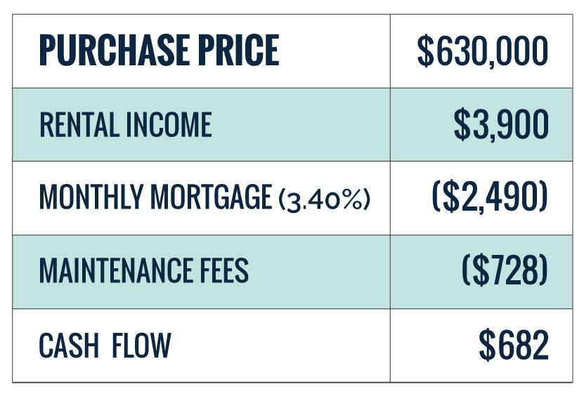 Cash Flow break down for the Summit II