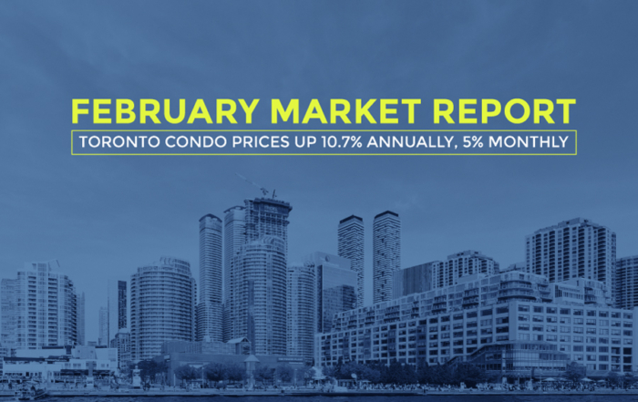 Toronto Condo Prices Up 10.7% Annually, 5% Monthly: February Report