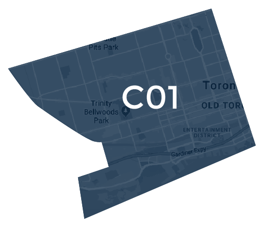 Toronto Central West Map