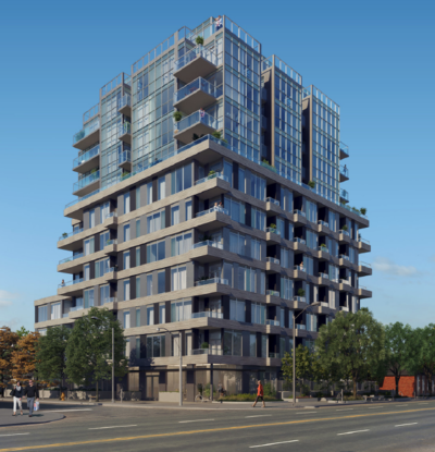 cardiff condo render-street view