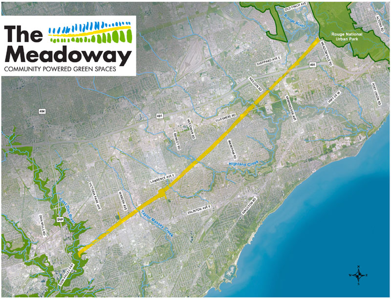 The Meadoway map