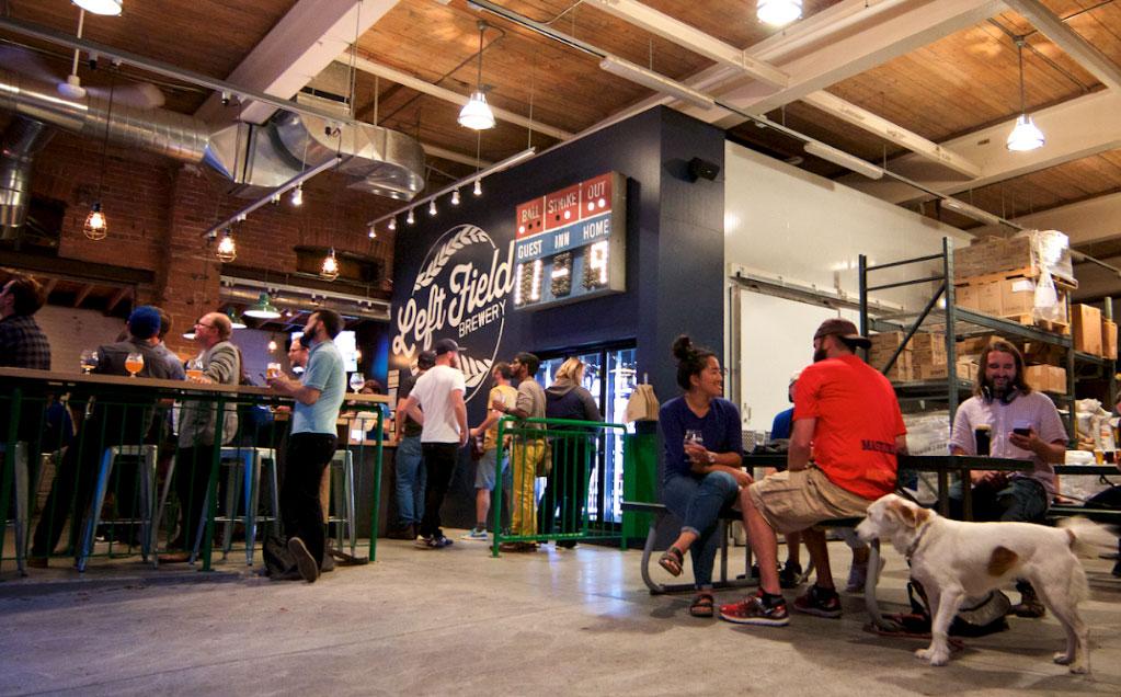 dog-friendly brewery Left Field