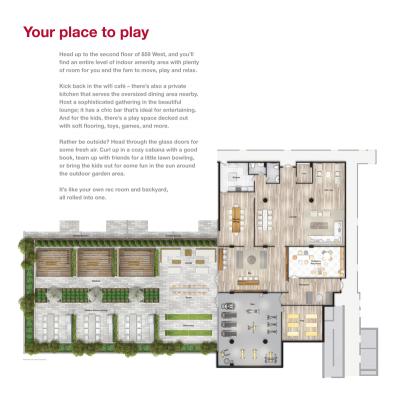 859 West Condo Amenities Floorplan