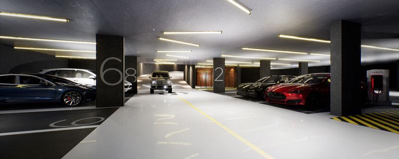Queen West Toronto Condo Parking Garage