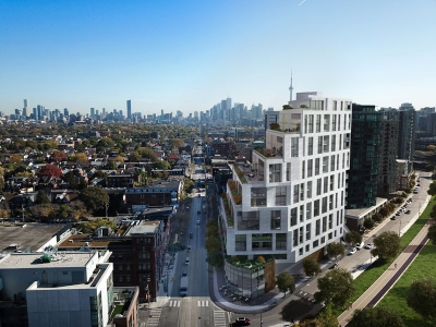 Queen West Toronto Condo Aerial View