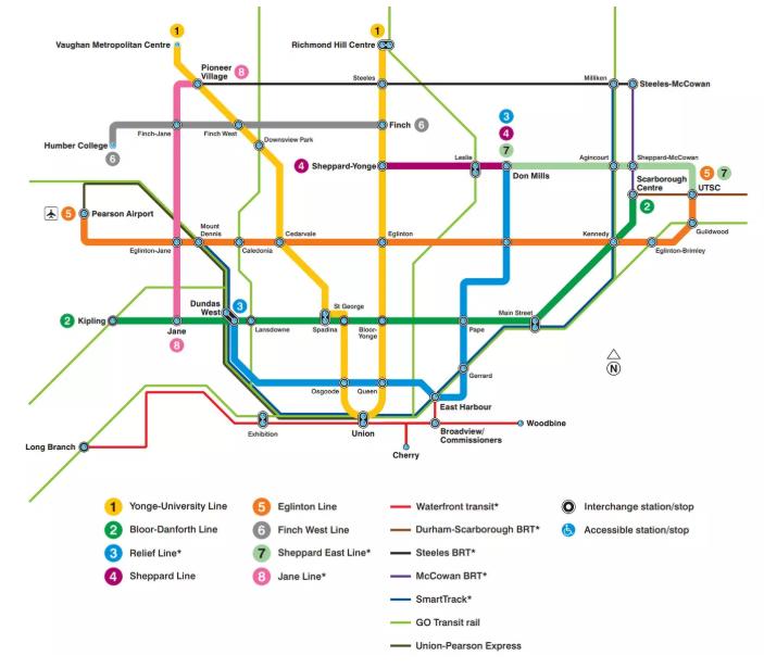 Full future Toronto transit map