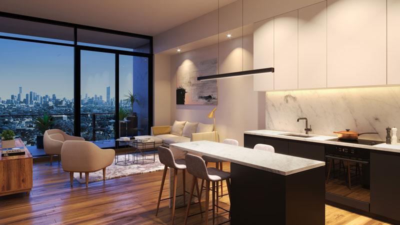 Queen West Toronto Condo - Suite Interior View