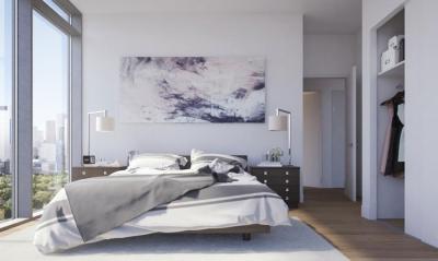 bedroom at corktown condos