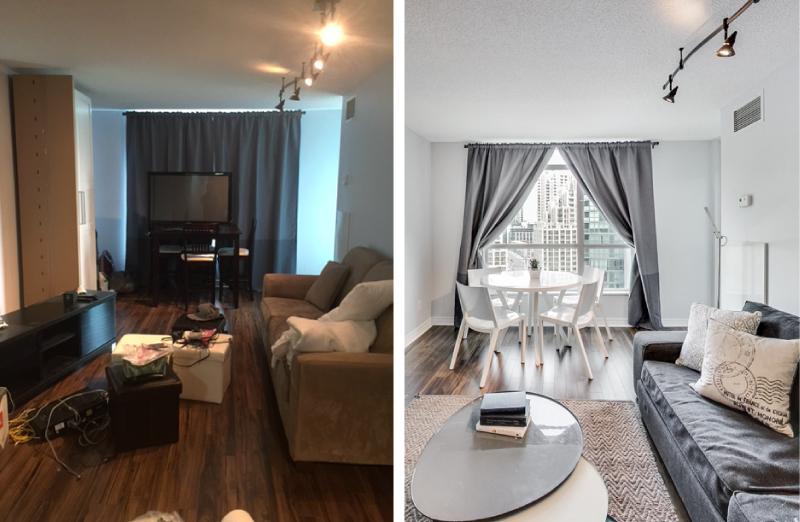 Before & After Images of Condos in Fort York, Toronto