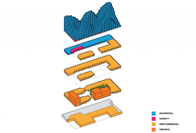layered design for Bjarke Ingels' King West development
