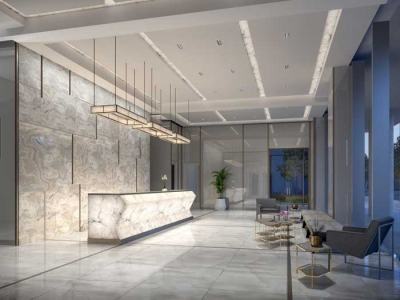 lobby of richmond residence condos