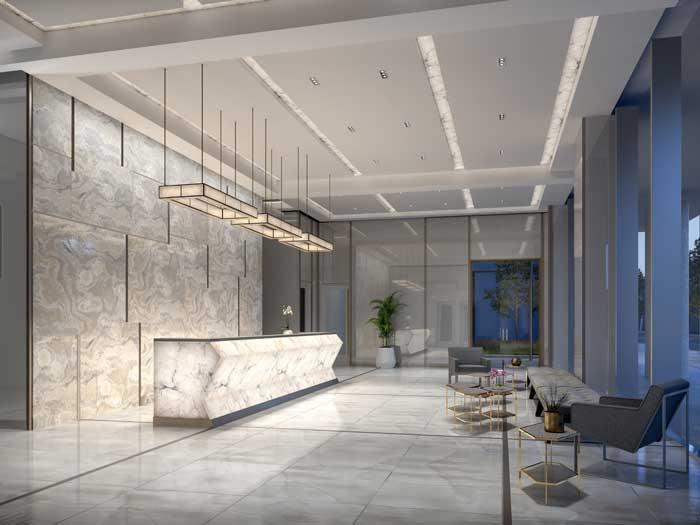 lobby of richmond residence condos