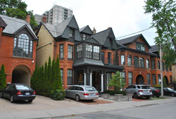 Homes in the Annex neighbourhood of Toronto
