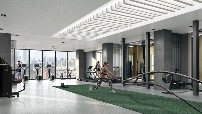 Prime Condos fitness centre