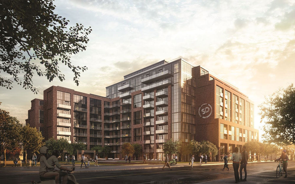 Stockyards District Residences from outdoors