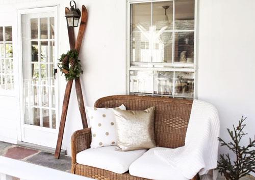 winter curb appeal porch design