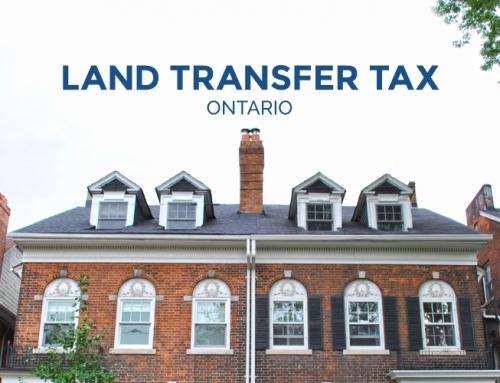 LAND TRANSFER TAX ONTARIO