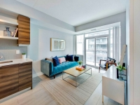 Living Room Staged at Musee Condos