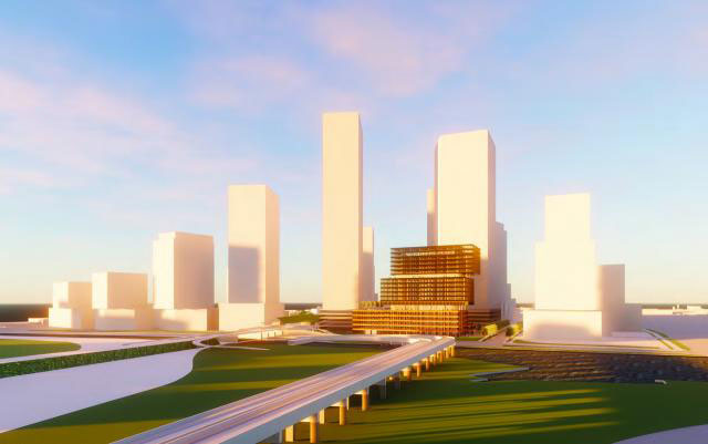 east harbour toronto rendering at sunset