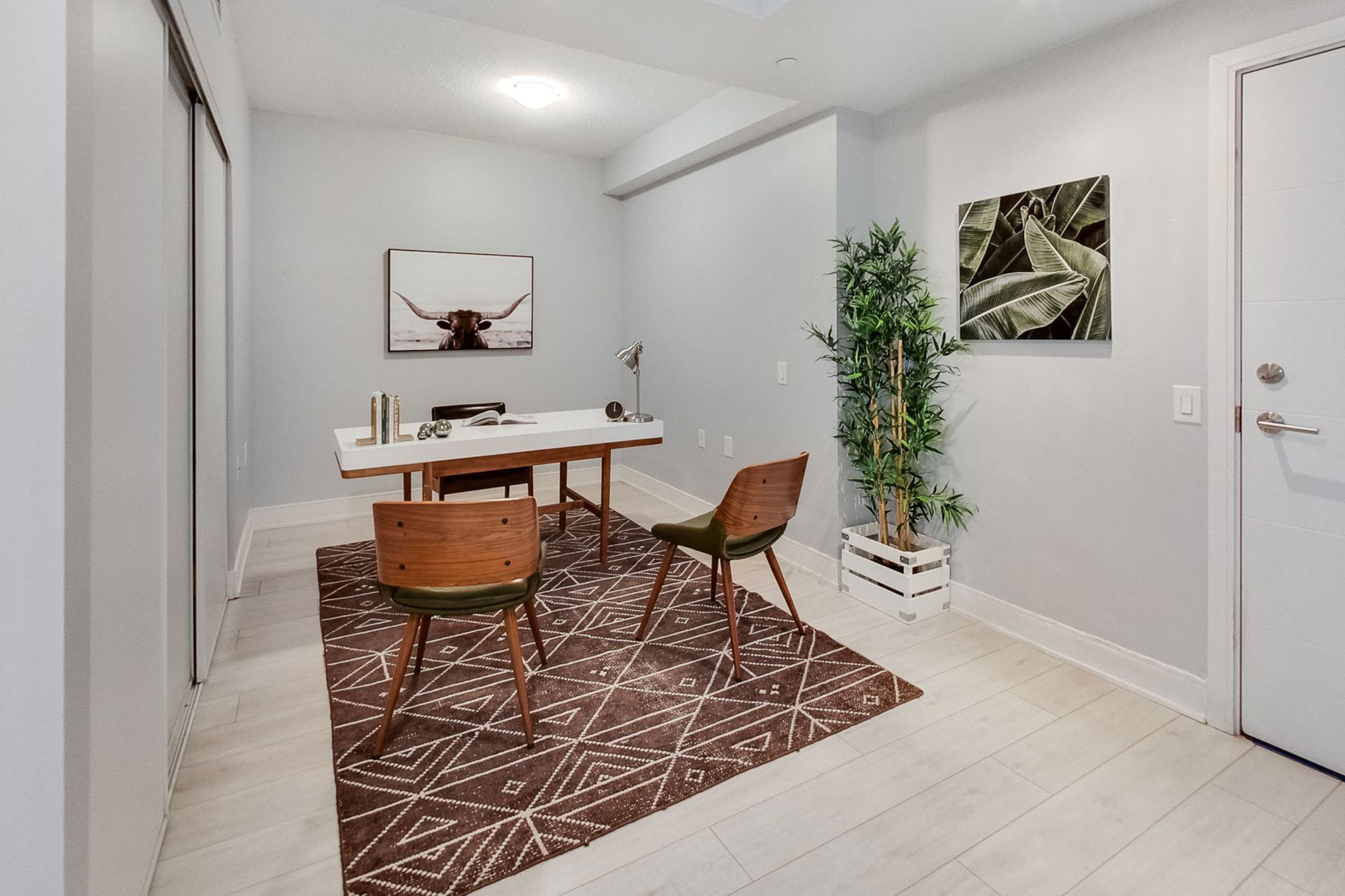 Staged den at Musee Condos
