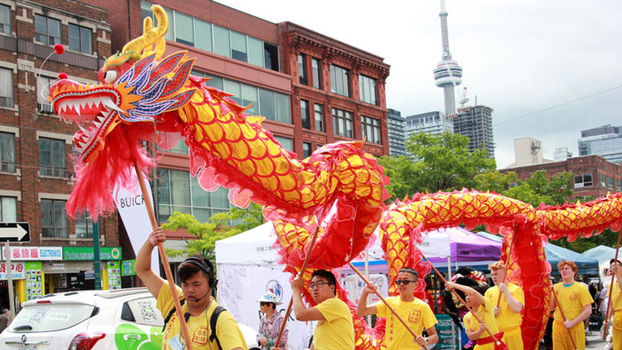 Chinatown festival parade in Toronto