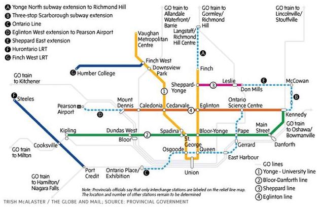 Toronto Transit Expansion Map