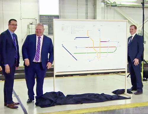 Toronto Transit Plans unveiling