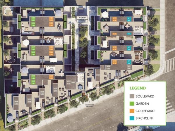 Birchcliff Urban Towns stie map