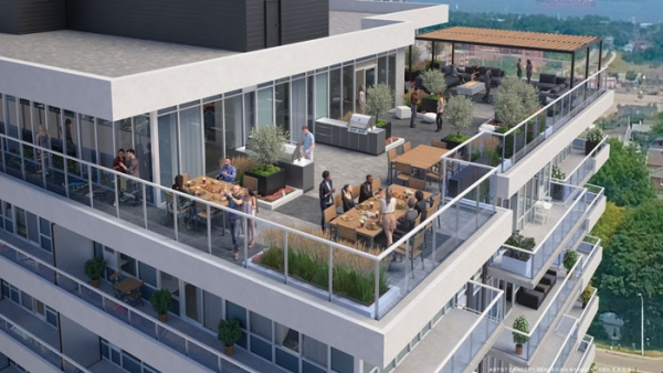 Kiwi Condos Hamilton Sky View of Terrace