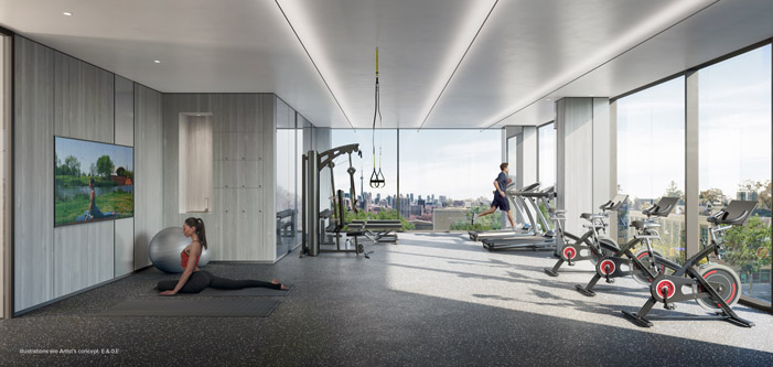 St Clair West Village Condos Gym