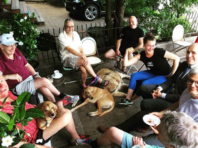 Dog-friendly patio in Riverdale