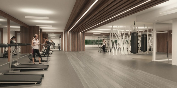 River and Fifth condos gym
