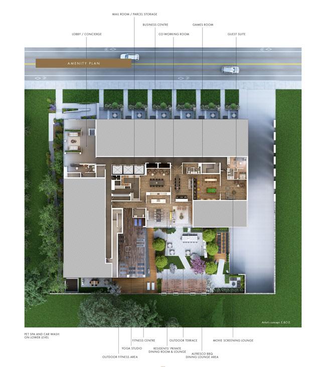 TANU Condos amenities map
