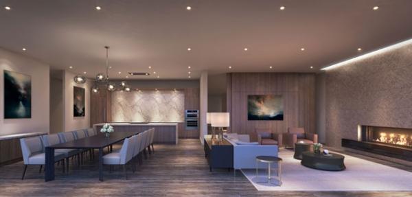 TANU Condos Dining lounge