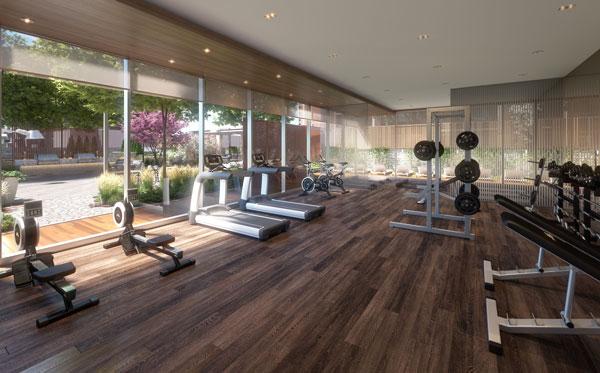 TANU Condos fitness centre