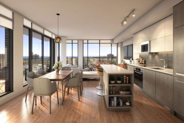 TANU Condos suite design with large windows