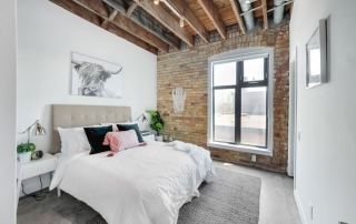 robert watson lofts staged bedroom