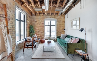 robert watson lofts staged living room