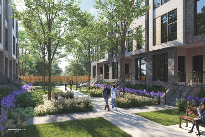 Clonmore Urban Towns garden courtyard