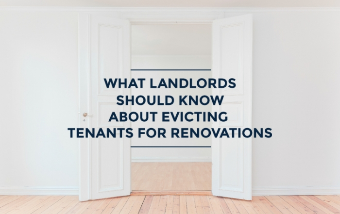 evicting tenants for renovations ontario blog cover