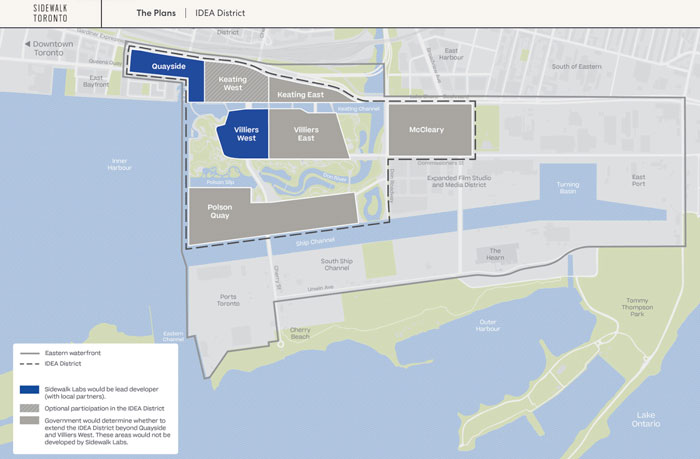 Toronto Smart City map of IDEA District