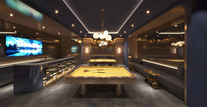 United Condos sports lounge