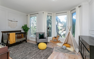 33 Prospect Street staged nursery with teepee