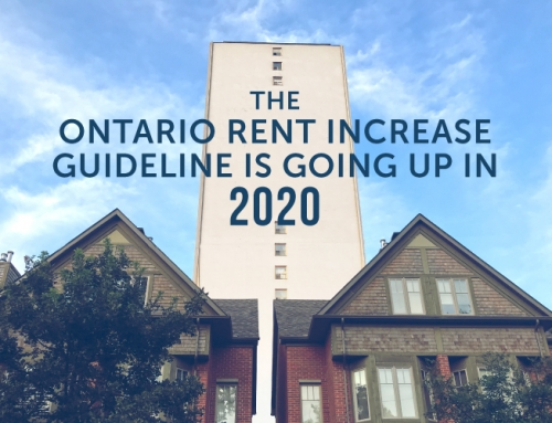 THE ONTARIO RENT INCREASE GUIDELINE IS GOING UP IN 2020